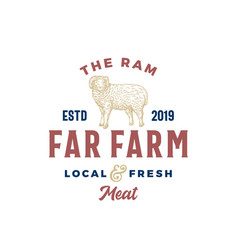 the far meat farm abstract sign symbol or vector image
