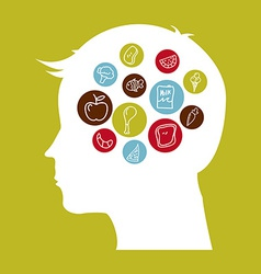 think food vector image