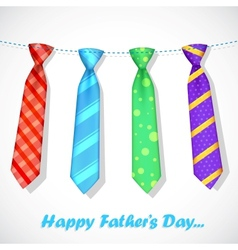 Tie in Fathers Day Card vector image