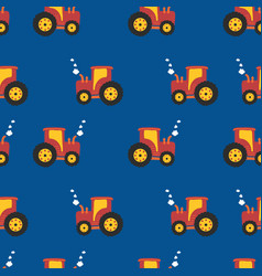 tractor kids pattern seamless background vector image