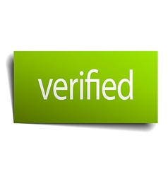 verified square paper sign isolated on white vector image