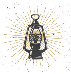 vintage kerosene lamp vector image
