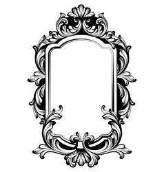 Vintage luxury mirror frame baroque vector