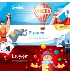 Web banners with of circus show vector