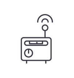 wi-fi router concept thin line icon sign vector image