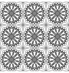 lace of openwork squares vector image vector image