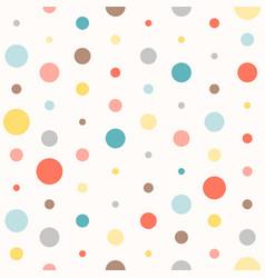 Seamless colourful polka dot pattern vector