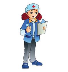 woman nurse vector image vector image