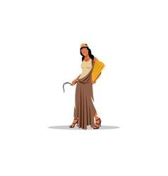 Demeter sign Mythological Greek goddess of vector image vector image