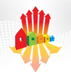 houses and arrows vector image vector image