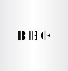 letter b black icons set elements vector image