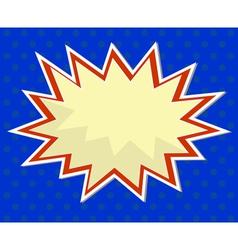pop art comic background vector image vector image