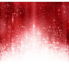 Red white Christmas snowflake background vector image vector image