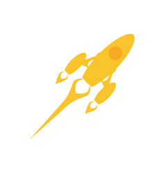 start up spaceship concept vector image vector image