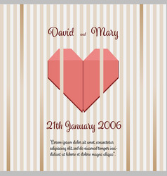 wedding invitation with abstract background vector image