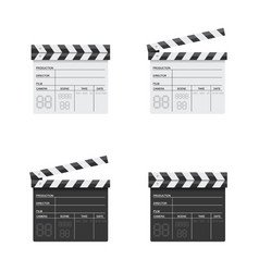 clapper board black and white vector image
