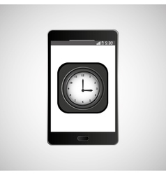 icon smartphone design clock time vector image