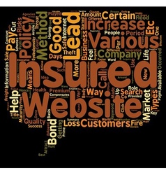 Insurance Leads how To Get Insurance Leads text vector image
