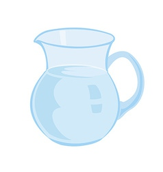 Jug with milk isolated on a white background vector image