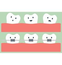 Teeth orthodontics vector