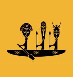African warriors vector image vector image