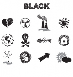 black theme vector image vector image