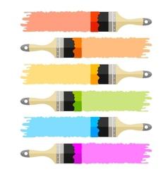 brush multicolored set vector image