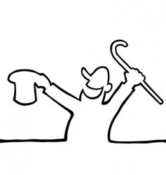 happy person drawing vector image