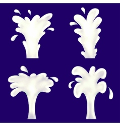 milk fountain vector image vector image