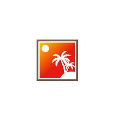 palm tree tropic abstract logo vector image vector image