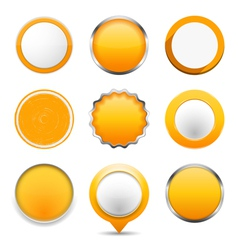 Yellow Round Buttons vector image vector image