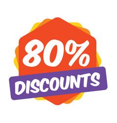 80 off discount promotion sale sale promo market vector image