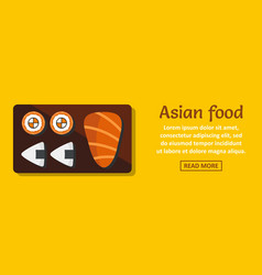 Asian food banner horizontal concept vector