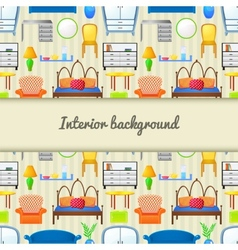background with elements furniture vector image