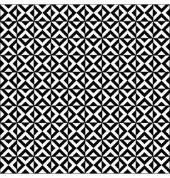 Black and white geometric tiles seamless pattern vector