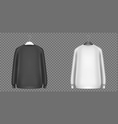 black and white sweatshirts longsleeves shirts vector image