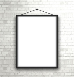 Blank picture frame on brick wall 1503 vector