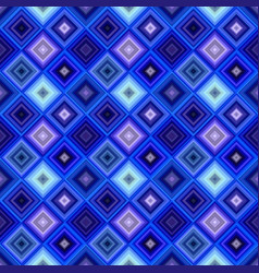 blue geometrical diagonal square mosaic tile vector image