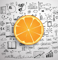 Business infographics - fresh orange idea vector image