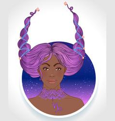 Capricorn astrological sign vector