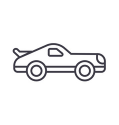 car racing line icon sign on vector image