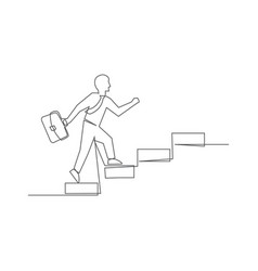 career one line drawing on white background vector image