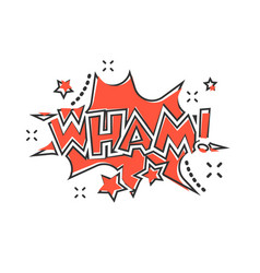 Cartoon wham comic sound effects icon in comic vector