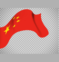 china flag on transparent background vector image