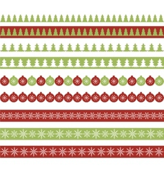 Christmas borders vector image