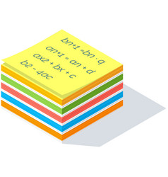 Colorful sticker for writing important working vector