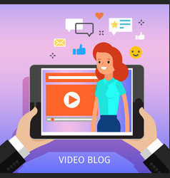 concept video blogging vector image