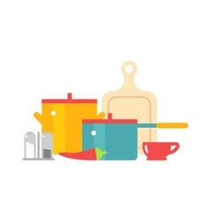 Cookware icon set vector