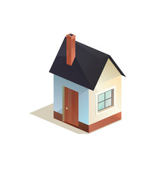 cottage home icon low poly isometric vector image