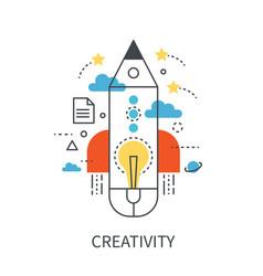 creativity modern concept vector image vector image